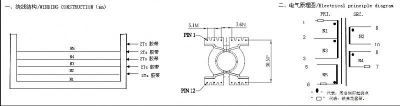 长期采购型号规格为pq3220的高频变压器